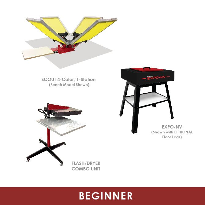 Beginner Screen Printining Equipment Startup Packages