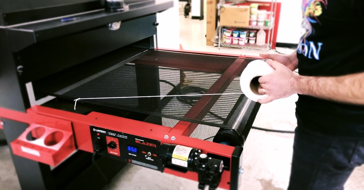 Measuring For a Replacement Screen Printing Conveyor Dryer Belt