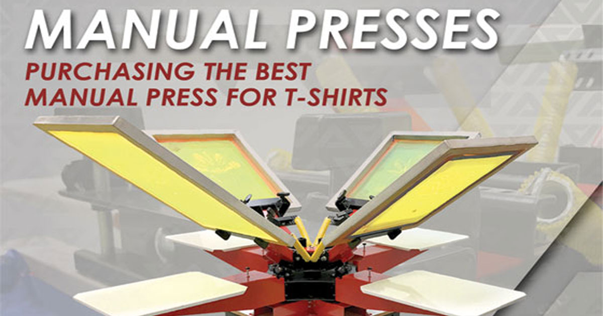 Purchasing Screen Print Manual Press