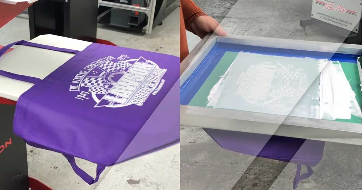 Screen Printing Tote Bags