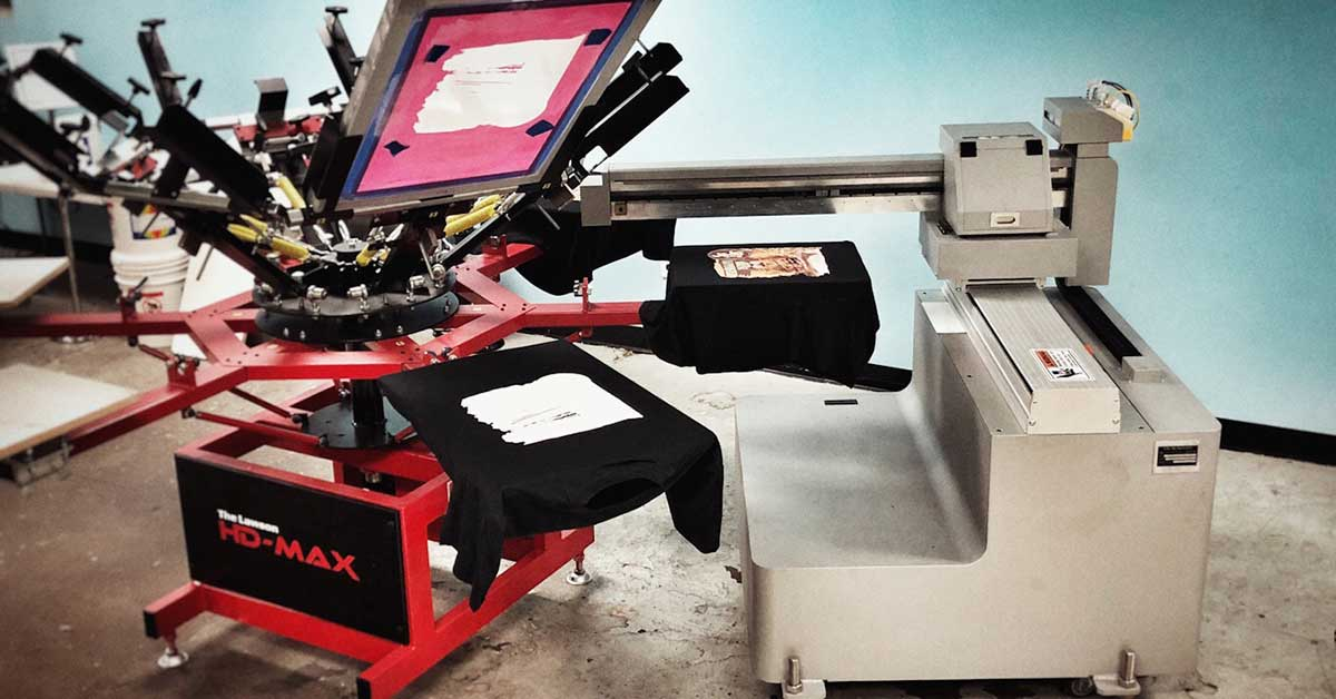 Digital T-Shirt Printing with Screen Printing