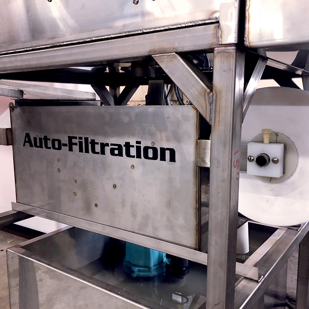 Automatic filtration with sensors