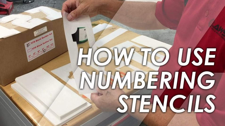 How to Use Screen Printing Numbering Stencils