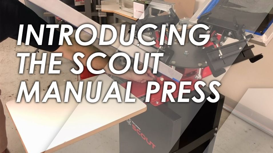 Scout Manual Screen Printing Press