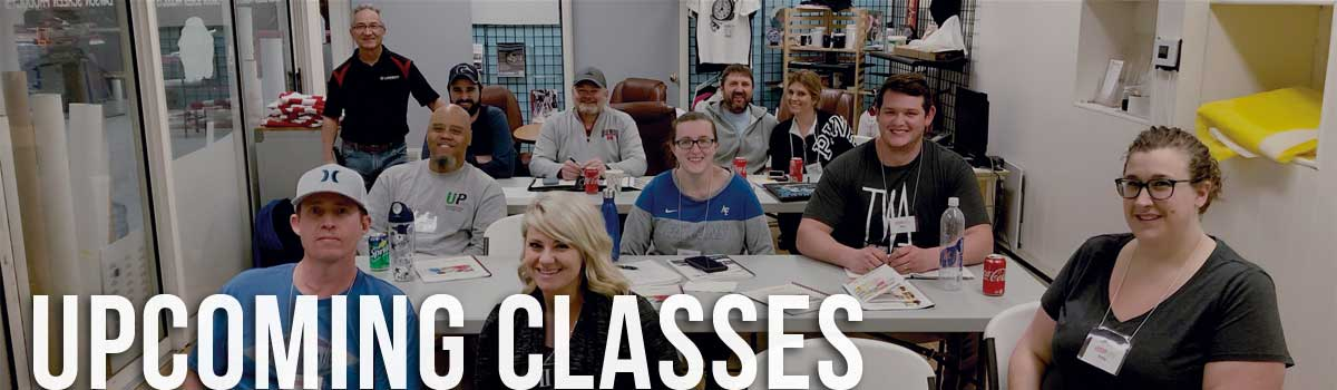 Upcoming Screen & Digital Printing Class Schedule