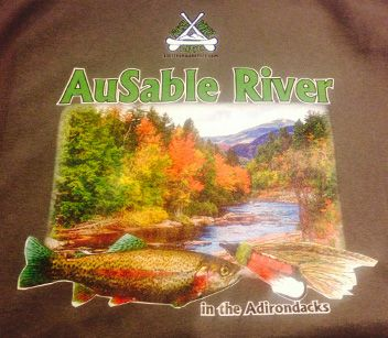 AuSable River t-shirt printed by Loremans