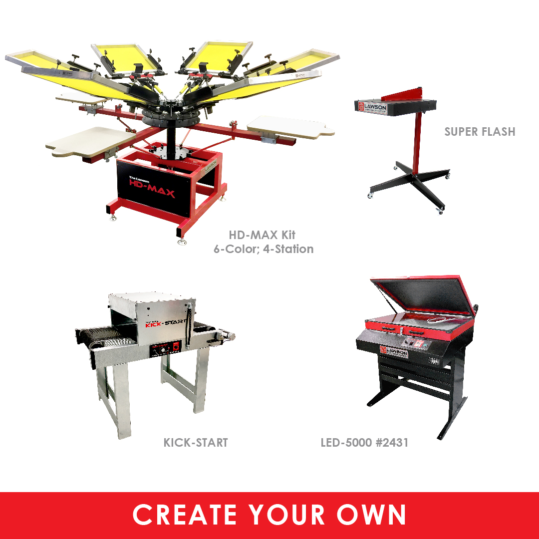 Custom Start-Up Screen Printing Equipment Package
