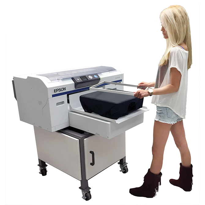DTG EPSON F2000 w stand and model - Direct to garment printer