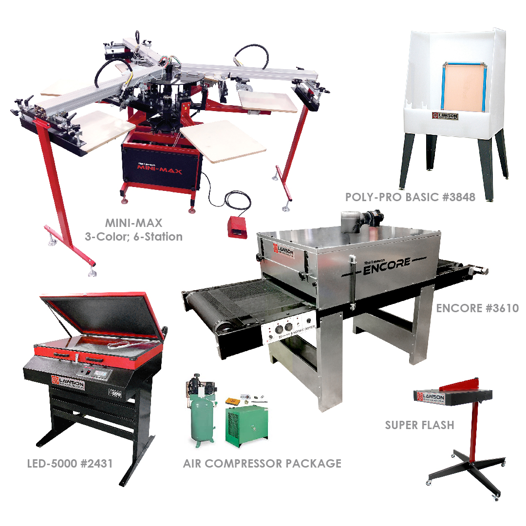 Mini-Max Screen Printing Equipment Startup Packages