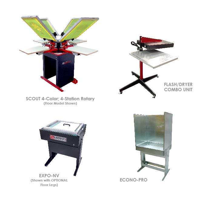 Scout XL Screen Printing Equipment Startup Packages