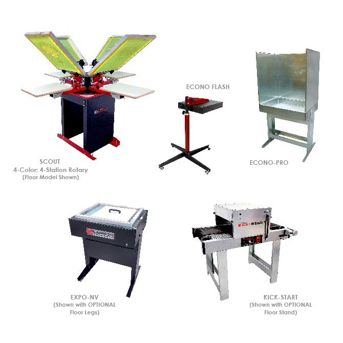Beginner Screen Printing Equipment Startup Packages