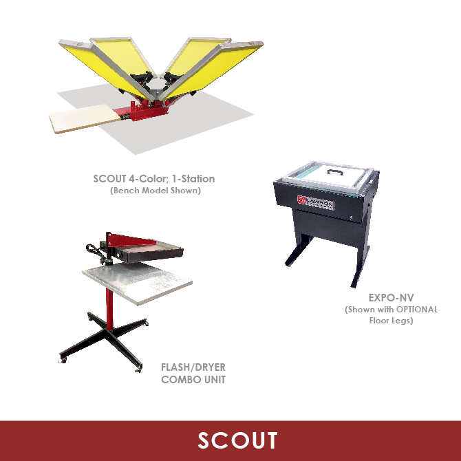 Scout Screen Printining Equipment Startup Packages