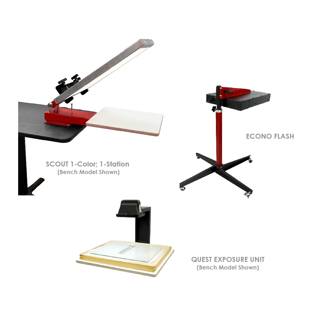 Hobby Screen Printing Equipment Startup Packages