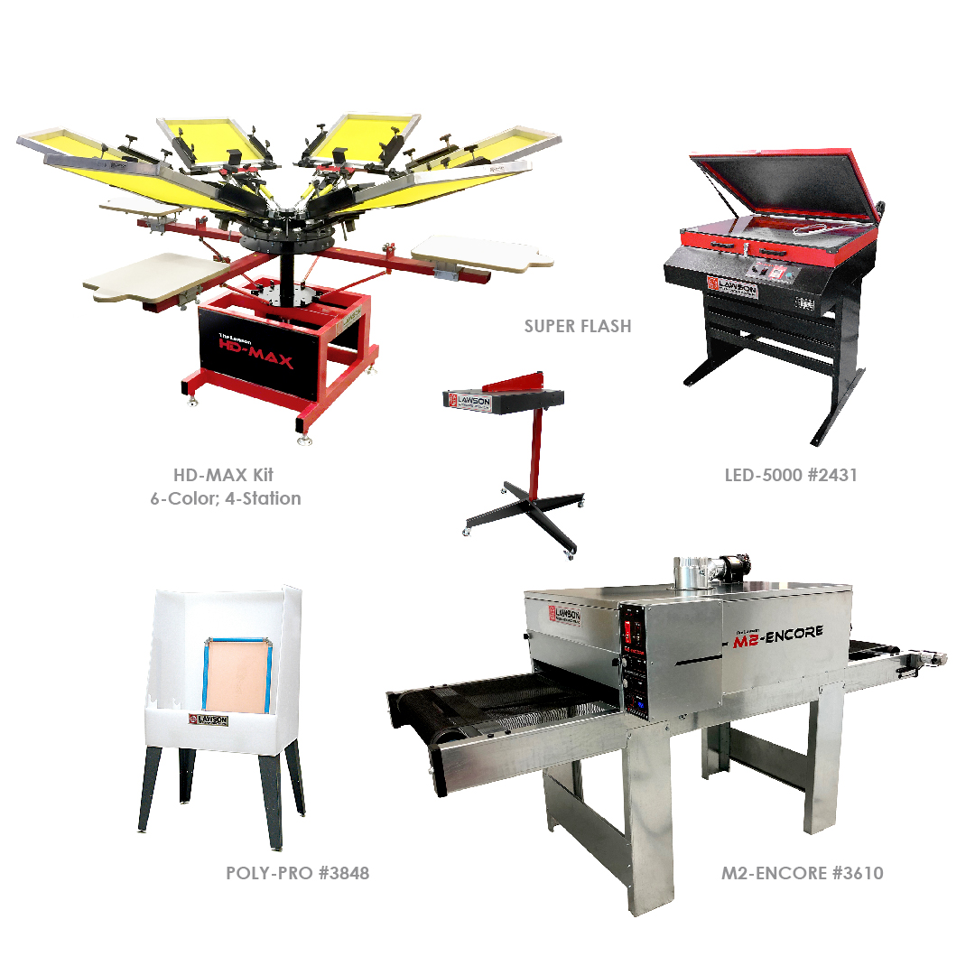 Professional Screen Printing Equipment Startup Packages