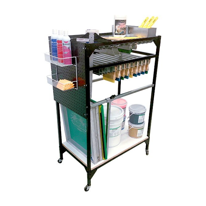 Uni-Cart Screen Printing Supplies Organizing Cart