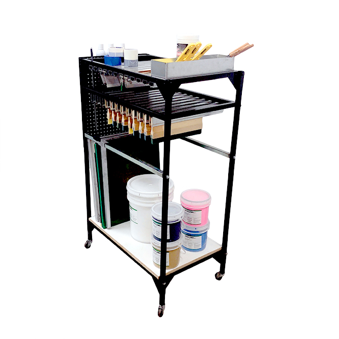 Screen Printing Supplies Organizor Cart - Lawson Screen & Digital