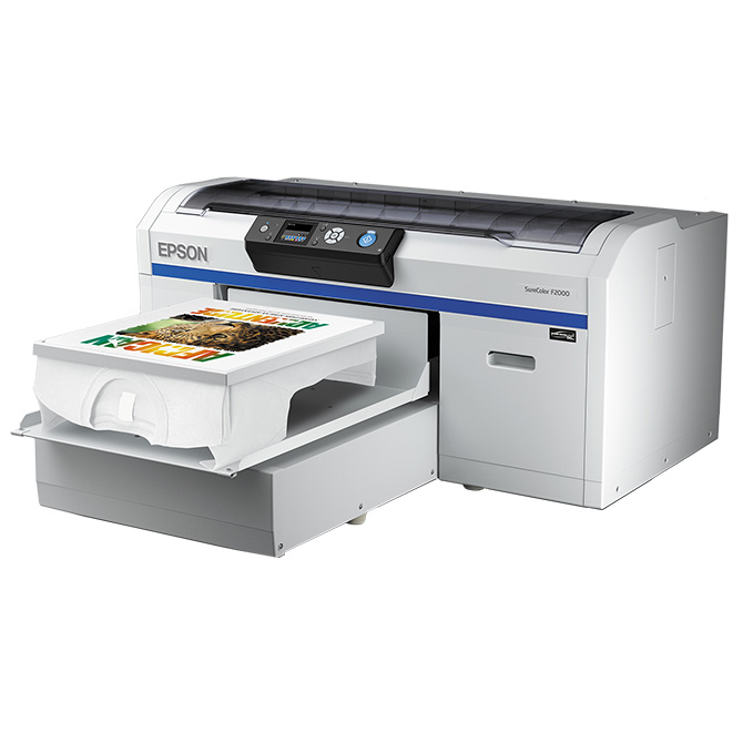 Epson Surecolor F2000 Series Direct To Garment Inkjet Printers