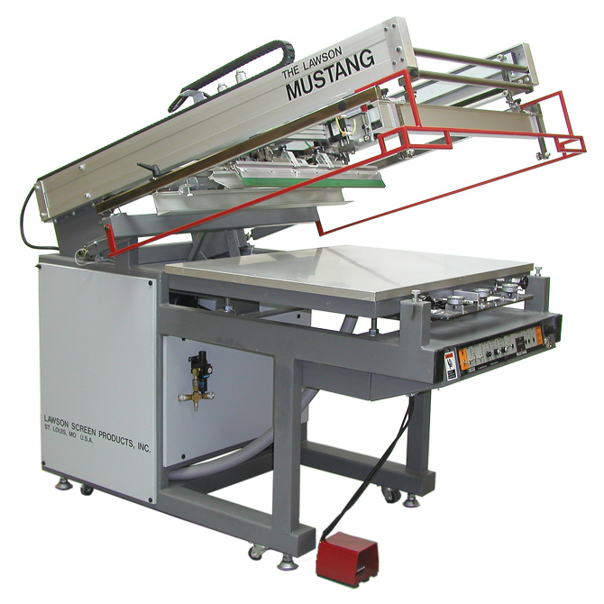 Lawson Mustang Flat-bed Screen Printing Press - Graphic Screen Printing Press