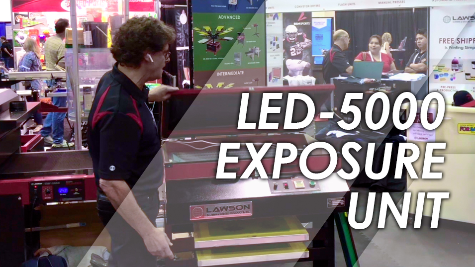 LED-5000 Screen Printing Exposure Unit Demo
