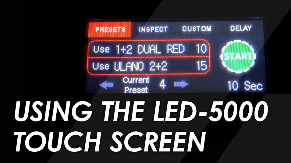 LED 5000 screen printing exposure uint touch screen demo
