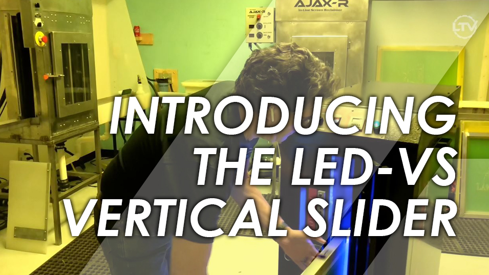 LED-5000 Vertical Passthrough Screen Printing Exposure Unit Overview