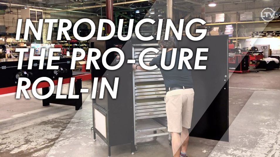 Pro-Cure Roll-In Screen Printing Screen Dryer Demo