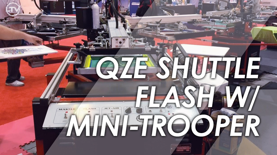 QZE Flash Cure Unit with Mini Trooper SGIA 2017