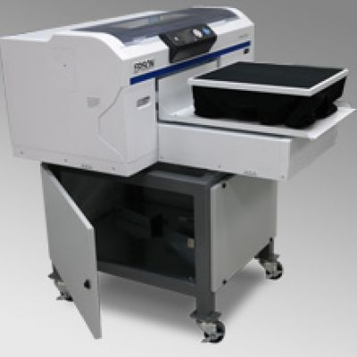 Direct To Garment Epson Surecolor F2000 Printer On Open Stand